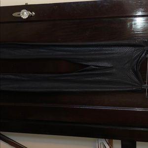 Black snake skin leggings, BCBG, size Medium